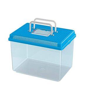 Ferplast Aquarium en Plastique pour Poissons Geo Large Bac Auarium 6 L Conteneur 30 X 20 X H 20,3 cm Bleu - Publicité