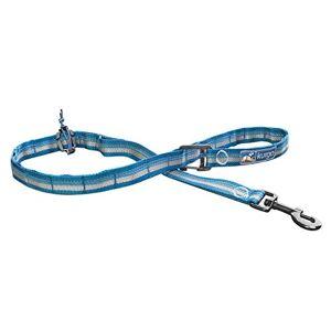 Kurgo RSG Laisse réglable pour chien mains libres pour courir, faire du jogging ou courir, laisse pour animaux compatible Molle adaptable, poignée de dressage, boucle, réfléchissante, bleu/gris - Publicité