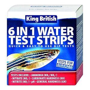 King British 6 in 1 Water Test Strips - Publicité