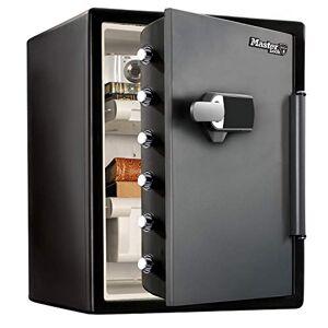 Master Lock Coffre-fort [Ignifuge et Etanche] [XXL 56,6 L] [Combinaison Electronique + Alarme] LFW205TWC Pour vos documents d'identité, documentsA4, ordinateurs portables, bijoux - Publicité
