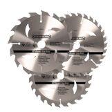 Silverline 704410 Lames de scie circulaire 135 x 10/12,7 mm TCT 16T, 24T et 30T
