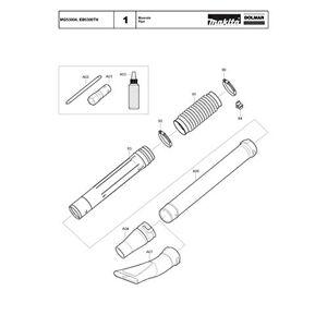 Dolmar 454904-2-8428 B Porte-plume de rechange pour  MG53004 - Publicité