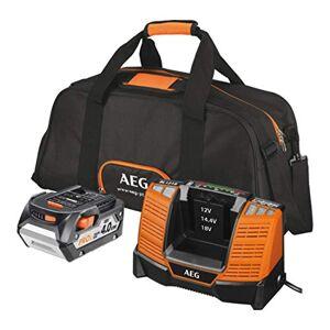 AEG -Conj. Chargeur Batterie 18 V 4,0Ah Sac - Publicité