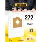 TopFilter 272, 2 sacs aspirateur pour Bluesky boîte de sacs d'aspiration en non-tissé, 2 sacs à poussière (30 x 26 x 0,1 cm)