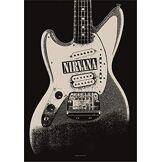 Heart Rock Licensed Drapeau Nirvana-Jag Stang, Tissu, Multicolore, 110x 75x 0,1cm