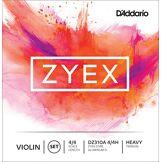 D'Addario Bowed Jeu de cordes avec Ré en aluminium pour violon D'Addario Zyex, manche 4/4, tension Heavy