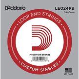 D'Addario Corde seule en bronze phosphoreux avec extrémité à boucle D'Addario LE024PB, .024