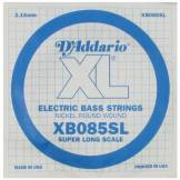 D'Addario Corde seule en nickel pour basse D'Addario XB085SL, corde extra-longue, .085