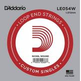 D'Addario Corde seule en nickel avec extrémité à boucle D'Addario LE054W, .054