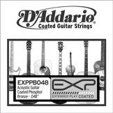 D'Addario Corde seule en bronze phosphoreux avec revêtement EXP D'Addario EXPPB048, .048