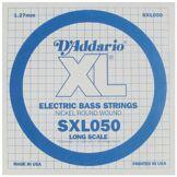 D'Addario Corde seule en nickel pour basse D'Addario SXL050, extrémités à boules, corde longue, .050