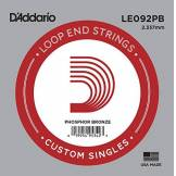 D'Addario Corde seule en bronze phosphoreux avec extrémité à boucle D'Addario LE092PB, .092