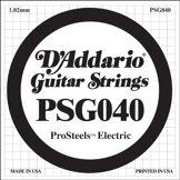 D'Addario Corde seule pour guitare électrique D'Addario ProSteels PSG040, .040