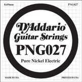 D'Addario Corde seule en nickel pur pour guitare électrique D'Addario PNG027, .027
