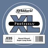 D'Addario Corde seule pour basse D'Addario ProSteels PSB035SL, corde extra-longue, .035