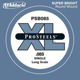 D'Addario Corde seule pour basse D'Addario ProSteels PSB085SL, corde extra-longue, .085