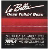 La Bella Labella 760FLB Jeu de Cordes pour Basse 43/128 Flat Wound