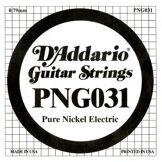 D'Addario Corde seule en nickel pur pour guitare électrique D'Addario PNG031, .031