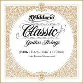 D'Addario Corde seule pour guitare classique rectifiée D'Addario J3106, Hard, sixième corde