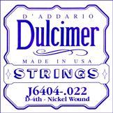 D'Addario Corde seule en nickel pour dulcimer D'Addario J6404, .022