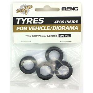 """MENG """"modèle 1: 35pneus pour véhicules/Diorama Kit (Lot de 4, Multicolore)"""