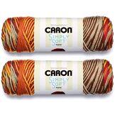 Caron Simply Soft Paints Lot de 2 pelotes 141 g chaque boule Coucher de soleil Automne
