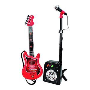 REIG 844 Ensemble Guitare lectrique  4 Cordes + Flash Micro + Baffle - Publicité