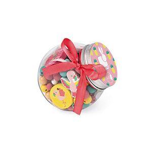 Janod Birdy Coffret 220 Perles en Bois Enfants, 12 Charms Inclus Flamants roses, J06666 - Publicité