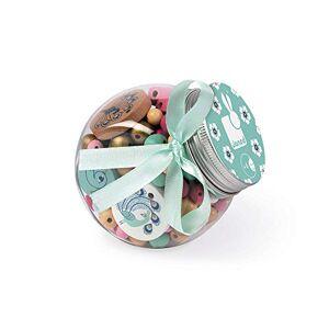 Janod Birdy Coffret 220 Perles en Bois Enfants, 12 Charms Inclus Paons, J06670 - Publicité