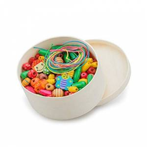 New Classic Toys Toys-10570  Bote de Perles en Verre, 570, Multi Color, 230 pices - Publicité