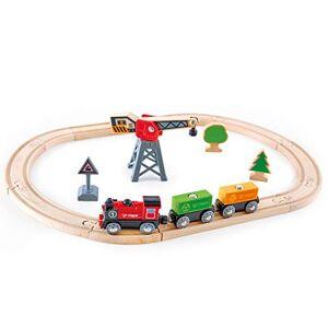 Hape E3731 Jouet en Bois Circuit de Train Circuit de Train de Marchandises - Publicité