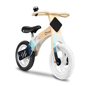 Lionelo Willy Velo Bebe vélo d'équilibre en Bois de 2 Ans jusqu' 25 kg réglage de la Selle lAngle limité de braquage Clochette de Guidon trs léger (Bleu) - Publicité