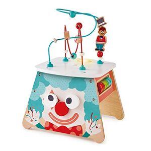 Hape - Light-Up Circus Sided Wooden Activity Toy Cube Lumineux Cirque-Jouet d'activités en Bois Multi-Faces, E1813A - Publicité