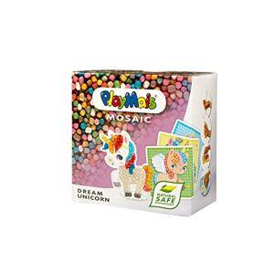 PlayMais Mosaic Dream Unicorn Kit de loisirs créatifs pour fille et garon  partir de 3 ans   2300 pices et 6 modles de mosaques licornes   activités manuelles pour enfants - Publicité
