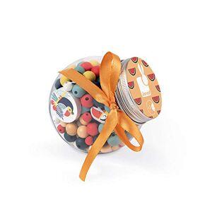 Janod Birdy Coffret 220 Perles en Bois Enfants, 12 Charms Inclus Toucans, J06669 - Publicité