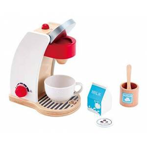 Hape - Jeu d'Imitation en Bois-Cuisine-Machine  Café, E3146, Blanc - Publicité