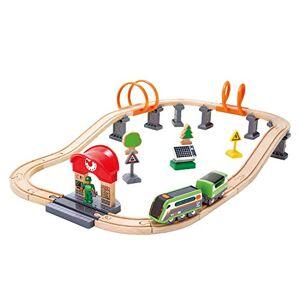 Hape E3762 Circuit de Train en Bois Train contrlable  Distance - Publicité