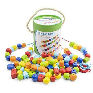 New Classic Toys Perles en bois 96 pices, 10574 - Publicité