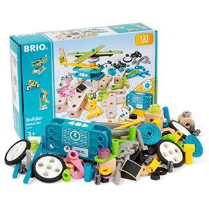 Brio Builder 34591 Coffret Builder et Moteur 120 pices Jeu de construction STEM -Créations libres ou guidées Pour garcons et filles  partir de 3 ans - Publicité
