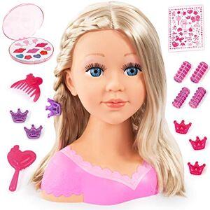 Bayer Design - Tête à Coiffer et Maquiller, Charlene Super Model avec Accessoires, Cheveux blonds, 90088AA - Publicité