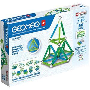 Geomag Jeux de Construction Magnétique pour enfants Jouets éducatifs pour Garons et Filles 100% Recyclé Collection Green Classic 60 pices - Publicité