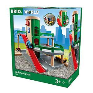 Brio 33204 Garage Rail / Route Accessoire pour circuit de train en bois 3 niveaux Véhicules inclus Action de jeu sans pile Jouet pour garons et filles ds 3 ans - Publicité