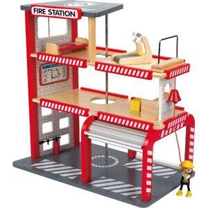 Hape E3007 Jeu d'Imitation en Bois Pompiers Caserne de Pompiers - Publicité