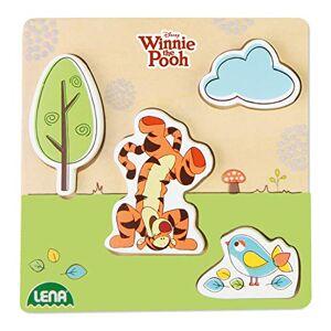 LENA 32123 Disney Winnie The Puuh Figurine Tigger Walt Disney en Bois Multicolore Dimensions : 14 x 2,5 x 18 cm - Publicité