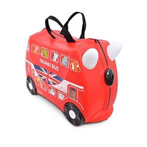 Trunki Valise Enfant  Roulette  Chevaucher et Bagage Cabine Vehicules: Boris le Bus (Rouge) - Publicité