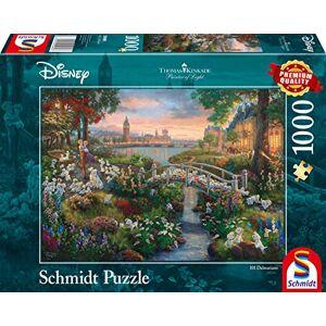 Schmidt Spiele Thomas Kinkade 59489 Puzzle 101 dalmatiens 1000 pices Multicolore - Publicité