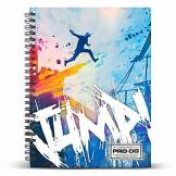 PRODG PRODG DIN A5 Notebook Jump Accroche-Sac, 21 cm, Multicolore (Multicolored)