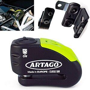 Artago 30X 1Cadenas antivol Disque avec Alarme 120dB Haute Gamme et Support pour Les BMW GS r1250gs, r1200gs, f850gs, f800gs.  14Double Fermeture, homologué SRA et Sold Secure Gold - Publicité