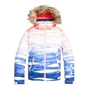 Roxy Jet Girl-Veste de Ski/Snowboardpour Fille 8-16 Ans Snowboard, Mid Denim Yumi Yamada Print, FR : M (Taille Fabricant : 10/M) - Publicité