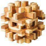 Fridolin - 17493 - Puzzle - Casse Tête Bambou - Bloc Magique